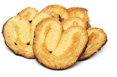 Some palmeras, spanish palmier pastries Stock Photos