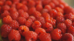 HD1080p25 A Lot of Fresh Raspberry (Close Up) Dolly HD Shot. Part 1 Stock Footage