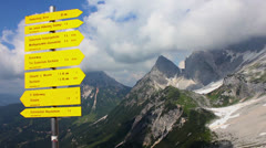 Alps - Under the Dachstein peak - 05 Stock Footage
