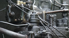 Steam locomotive under pressure + steaming valve - full screen Stock Footage