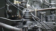 Stock Video Footage of Steam locomotive under pressure + steaming valve - full screen