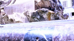BEAUTIFUL PICTURE OF OLD FOUNTAIN WITH ROMAN WRITING Stock Footage