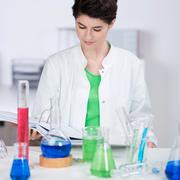 chemistry student - stock photo