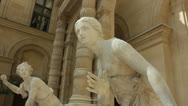 Stock Video Footage of Sculptures in the Louvre Museum