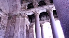 CROWD VISITING A PANTHEON IN ROME - stock footage