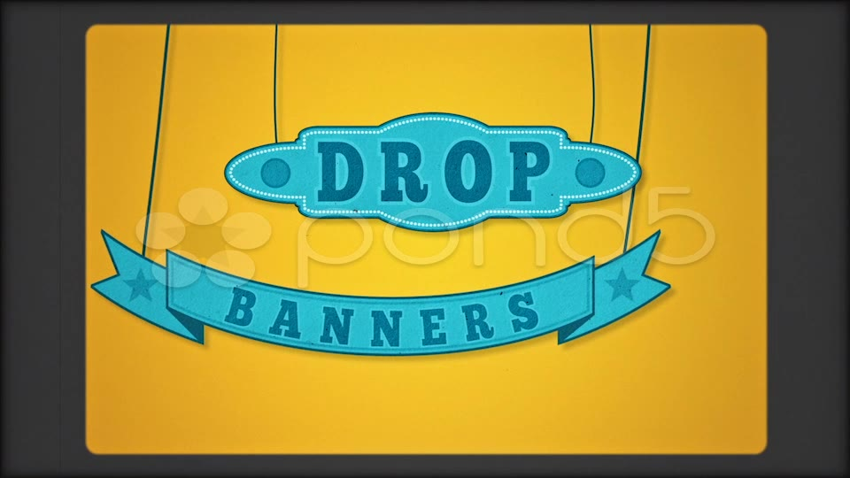 After Effects Project - Pond5 Drop Banners 26177681