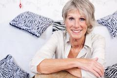 modern trendy senior woman - stock photo