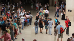 Crowd of multi-cultural people Stock Footage