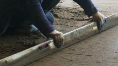 Concrete Floor Levelling Stock Footage