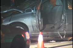 Traffic Accident, Driver Side Door Stock Footage
