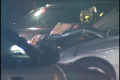 Car Accident, Front End Damage Stock Footage
