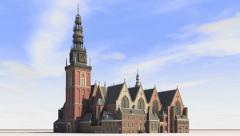 Oude Kerk Stock Footage