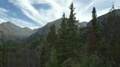 W Mountain Vista pan Stock Footage