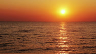 Stock Video Footage of SEA AT SUNSET