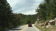 Stock Video Footage of Driving down rocky highway