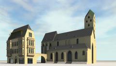 Marinenkirche Dortmund - stock footage