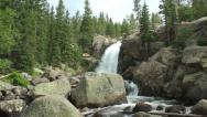 Stock Video Footage of Alberta Falls pan