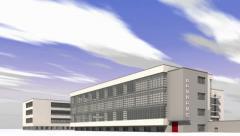 Bauhaus Dessau Stock Footage