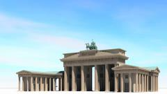 Brandenburg Gate Stock Footage