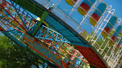 Amusement Park. Fragmented video. Stock Footage