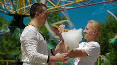 Candy Floss Stock Footage