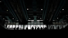 Silhouette of people at the Centre Georges Pompidou Stock Footage