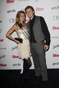 miss california tami farrell and fiance buddy.star magazine's 5th year annive - stock photo