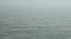 Waves in fog - stock footage