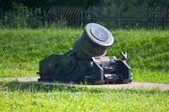 ancient artillery piece. - stock photo