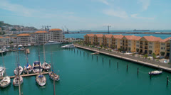 High view of housing at Queensway Quay Marina Stock Footage