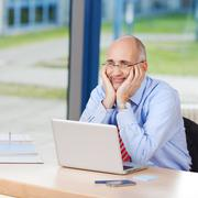 businessman looking away - stock photo
