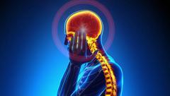 Male Hurt Backbone - Vertebrae Pain Stock Footage