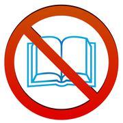 No read - stock illustration