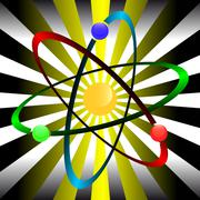 Atom symbol Stock Illustration