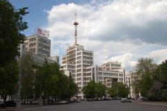 gosprom administrative complex in kharkiv, ukraine - stock photo