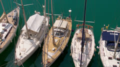 Moored yachts, Rock of Gibraltar Stock Footage