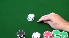 Playing Blackjack And Getting Paid Stock Footage