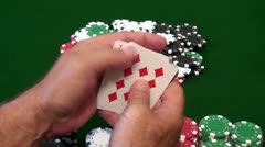 Winning Poker Hand - stock footage