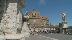 Castle St Angelo, Rome 5 (slomo dolly) Stock Footage