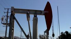 Oil pump jack oil industry cutaway transition money black gold Petroleum gas Stock Footage