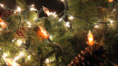 Lighted Christmas Wreath #2 Stock Footage