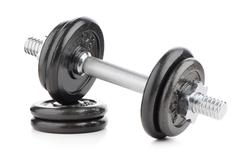 Dumbbell weights Stock Photos