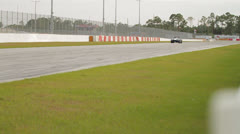 Shelby Car at Racetrack Stock Footage