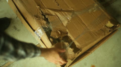 damaged shipment shipping package 1 - stock footage