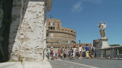 Castle St Angelo, Rome 7 (slomo dolly) Stock Footage