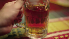 Large beer mug Stock Footage