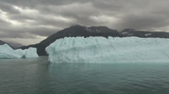 Greenland iceberg in an ice fjord s Stock Footage