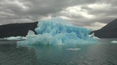 Greenland ice fjord blue iceberg s29 Stock Footage