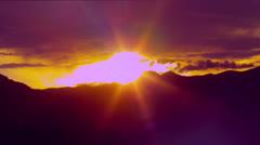 Pre-sunset Skyline - stock footage