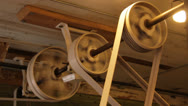 Stock Video Footage of Antique caning machinery 2